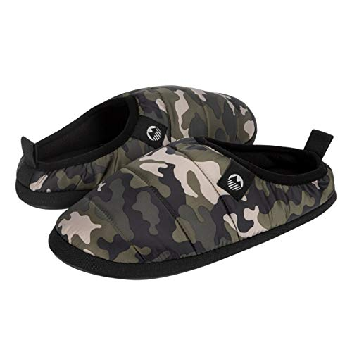 Lakeland Active Men's Wolfa Quilted Ultra-Warm Slippers - Camo - 10 UK