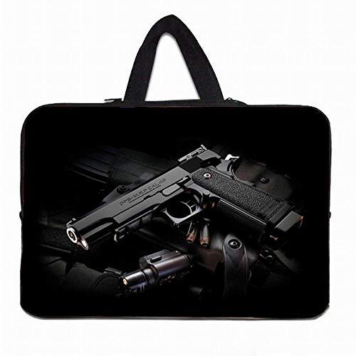 "Yinghao 10 11 6 12 13 14 15 6 17 17 3 Laptop-Hülle Tasche Tragbare Hülle Tasche mit Neoprengriff Für Acer Aspire One Sony Dell XPS ASUS@Schwarze Pistole_14"""