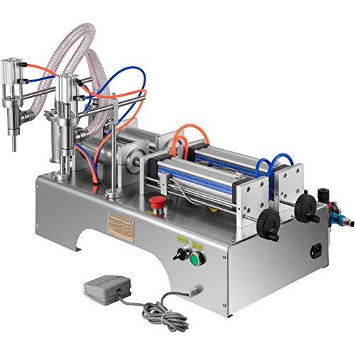 VEVOR Máquina de Llenadora de Líquido Neumática 50-500 ml Llenadora de Botella Neumática de Pistón Tamaño de Máquina 80 x 49 x 46 cm Máquina de Llenado de Líquido, Velocidad de Llenado 20-60 pcs/min