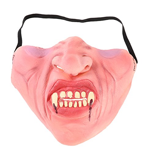 TINKSKY Funny Latex Half Face Masks Horrible Scary Mask Cosplay Costume for Halloween Party (Zombie)