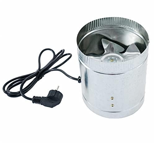 Beslands Ventilador de tubo de 150 mm de diámetro, flujo mixto, ventilador de tubería con sistema de salida de aire potente para oficina, baño, sala de estar