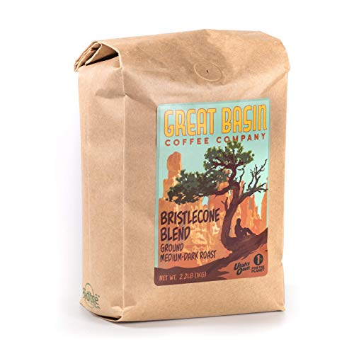 Great Basin Coffee Co. Bristlecone Blend Coarse Ground Coffee - Gourmet Fresh Small Batch Medium Dark Roast, Ideal for French Press Coffee Grounds, Cold Brew and Pour Over Coffee - 2.2 lb (1 kg)