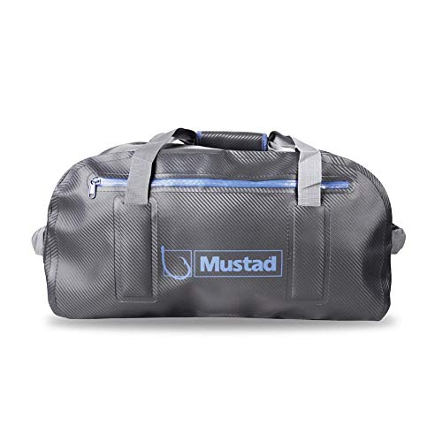 Mustad Dry Duffel Bag 50L 500D Telone PVC Grigio