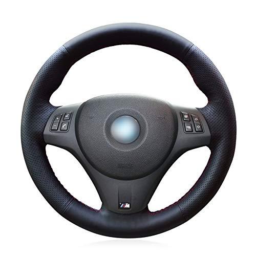 Funda Para Volante Coche Negro artificial de piel cubierta de la rueda del coche for BMW M Sport M3 E90 E91 E92 E93 E87 E81 E82 E88 E84 X1 Funda Volante (Color Name : Yellow Thread)