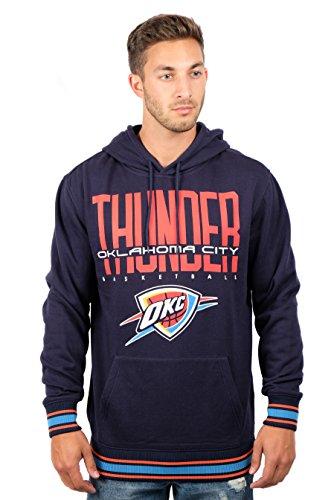 Ultra Game NBA Oklahoma City Thunder Mens Focused Pullover Fleece Hoodie Sweatshirt, Team Color, X-Large