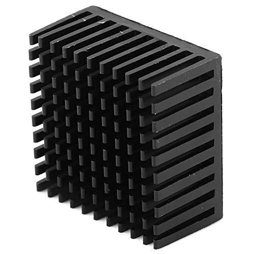 Disipador de Calor de Aluminio de 5 Piezas, Módulo de Disipador de Calor de Disipador de Calor de Aluminio Aleta de Enfriamiento de Radiador Aleta de Radiador para Placa PCB de Ventilador(Negro)