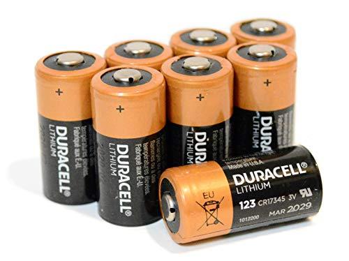 Duracell - Pilas de litio ultra DL123A - 8 unidades CR123A