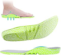 Plantar Fasciitis Insoles for Women, Arch Support Insoles Women for Flat Feet Pain Relief Orthotics Shoe Inserts, Boost Insole Shock Absorption with Breathable E-TPU Material Elastic Inserts