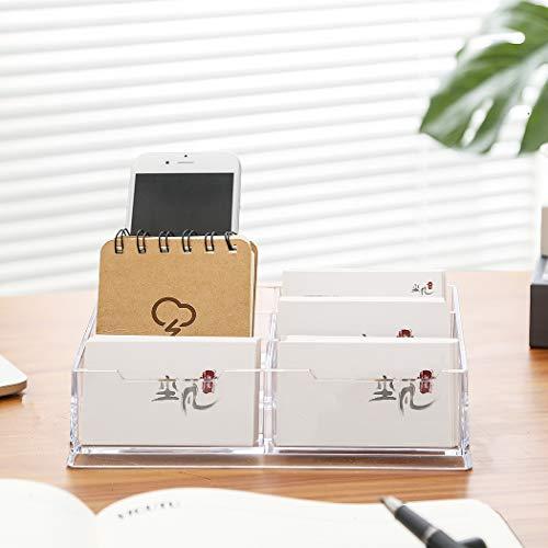 Acryl-Visitenkartenhalter , Digead 6 Gitter Transparenter Visitenkartenhalter für den Schreibtisch/the helpdesk Hartschalen-Visitenkartenständer