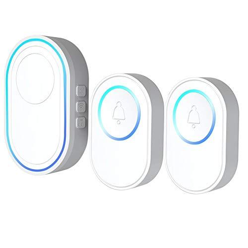 Tuya Alarm-Host mit drahtloser WiFi Türklingelfunktion Türklingel Kit 2 PCS Außentürklingel 1PCS Innen Chime mit LED...