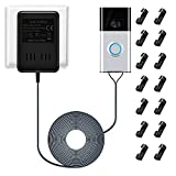 Wired Transformer for Ring Doorbell 8-24vac AC 1000mAh, Doorbell Power Supply with UK Plug Adapter (Black 5m)