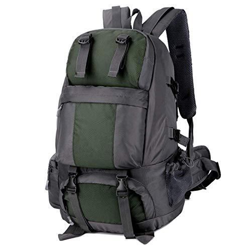 Z-LIANG Mochila for al Aire Libre Que va de excursión Viaje 50L Impermeable al Aire Libre se Divierte el Bolso con el Zapato Gabinete/Verde Oscuro Bolsa de Viaje