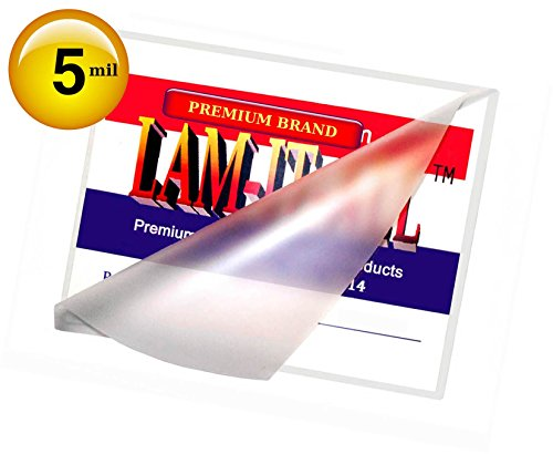 File Card Hot Laminating Pouches 5 Mil 3-1/2 X 5-1/2 [Pack of 100] by LAM-IT-ALL