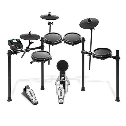 Alesis Nitro Mesh Kit - Batería Electrónica Musical de 8 Piezas con Parches de Malla, Rack Aluminio, 385 Sonidos, 60 Pistas para tocar, Baquetas, Cableado y llave de batería incluidos 🔥