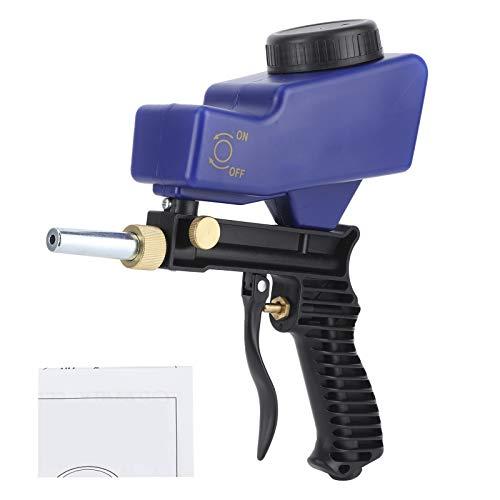 Automobiel zandstraalpistool, praktisch zandstraalpistool met grote capaciteit, duurzame draagbare lichtgewicht bramen voor roestverwijdering Details:(blue)