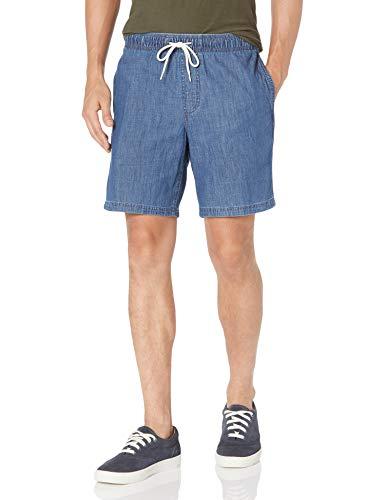 Amazon Essentials Pantalón Corto con cordón de 23 cm. Athletic-Shorts, Pequeño, AMZ1