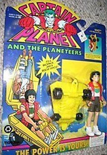 Captain Planet and the Planeteers  1992 Mati Action Figure with Rescue Pack by Tiger