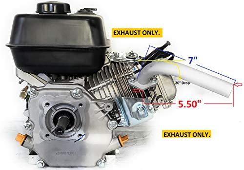 Exhaust Pipe for Predator 212cc, GX160, GX200, 20 degree drop for Go Kart & mini bikes, Motorized Drift Trike.