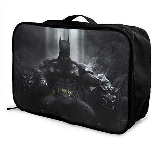 B-atman Bla Night Travel Duffel Bag Storage Paet Foldable Waterproof Lightweight Portable High Capacity Tote Carry on Lage Bags