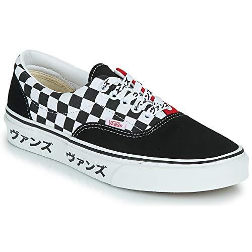 Vans Era Zapatillas Moda Hombres Negro/Blanco/Rojo - 39 - Zapatillas Bajas Shoes