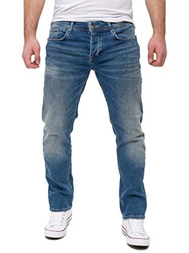 WOTEGA Jeans Herren Slim fit Alistar - Blaue Hose für Männer Straight lang - Blaue Lange Stretch Jeanshosen - Denim Hosen, Blau (Insignia Blue 19402.