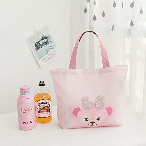 weichuang 1 bolsa pequeña de lona Duffy de dibujos animados de un hombro bolsa de compras para niña portátil ambiental, bolsa de almuerzo (color: A)