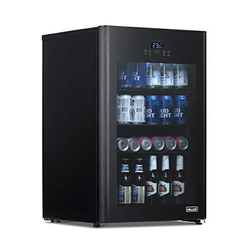 NewAir NBF125BK00 Froster and Beverage Beer Refrigerator, 125 Can, Black