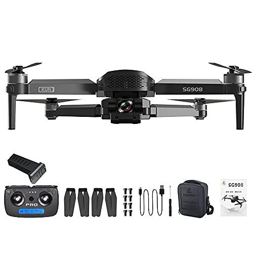 GAOFQSG908 GPS Drone Quadcopter Volante Pieghevole con Telecamera 4K HD 5G WiFi Ritorno Automatico a casa 3 Assi Gimbal RC Quadcopter Senza spazzole