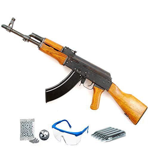 Cybergun Kalashnikov AK47 - Carabina de balines + Gafas y CO2 - Rifle de perdigones <3,5J