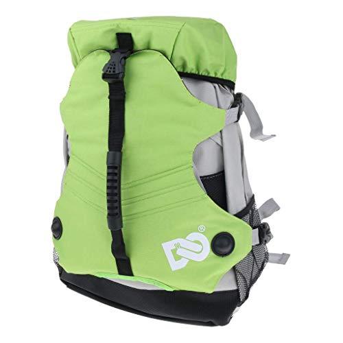 Tubayia Rollschuhe Rucksack Inline Skates Aufbewahrungstasche Schultertasche für Kinder und Erwachsene (Grün)