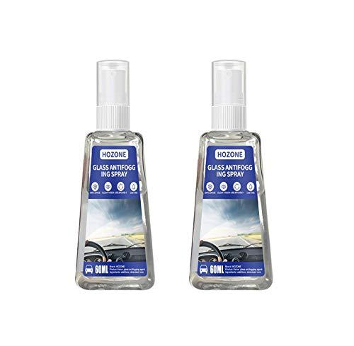 Clacce Anti-Nebel-Spray, Anti-Fog Auto-Glas Antibeschlagmittel, Antibeschlag Spray für Brillengläsern vor beschlagenden (2PCS 60ML)