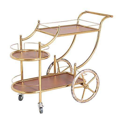 GENRAL Carrito de servicio para servir carrito de té, moderno estante de metal para bebidas y licores rodantes para bebidas y vinos, muebles de cocina, baño, carrito