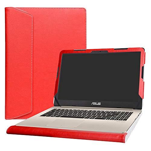 Alapmk Specialmente Progettato PU Custodia Protettiva in Pelle per 15.6  ASUS VivoBook PRO 15 N580VD M580VD N580VN Series Notebook (Non compatibili con: ASUS ZenBook PRO 15 UX580GE),Rosso
