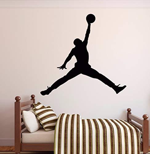 Njuxcnhg Vinyl Wandtattoo Basketball Spieler Schießen Dribbeln Action Boy Room Funny Home Dekoration Aufklebercm 69x72cm