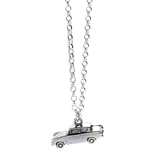 HARRY POTTER Collar Oficial Plata Esterlina Weasley Ford Anglia Coche Colgante - En Caja