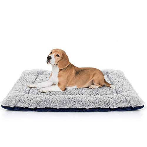 LOLO Dog Crate Bed | Super Soft Dog Mat Pad | Machine Washable Dog Bed for Crate with Striped Non-Slip Bottom | Comfortable Cat Bed Pet Bed for Dogs and Cats Beds