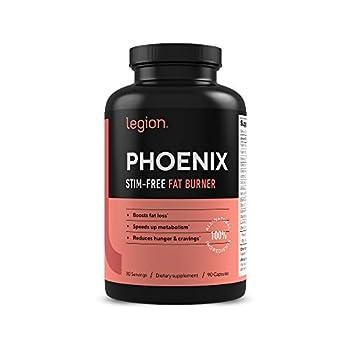 Legion Phoenix Thermogenic Fat Burners & Weight Loss Pills - 30 Serv 90 Capsules