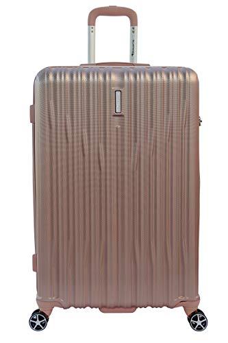 Tamaris Joy Hartschalen Koffer, 4 Rollen Reisekoffer für Damen/Herren mit TSA-Zahlenschloss, 77x52x29 – 90L, Rose
