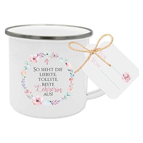 Geschenk für Lehrerin, Dankeschön Tasse mit Anhänger