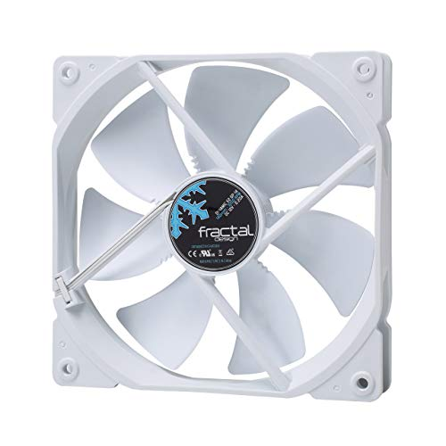 Fractal Design Dynamic X2 GP-14 Ventilador de computadora - Optimizado para una Alta ventilación – 140 mm – 1000RPM – FDB-Rodamientos - Puntales con Forma aerodinámica – 12v - Blanco Edition (Single)
