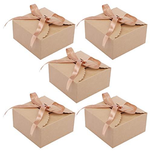 Cajas Cartón kraft Marrón 50 Piezas - Cajas Regalo