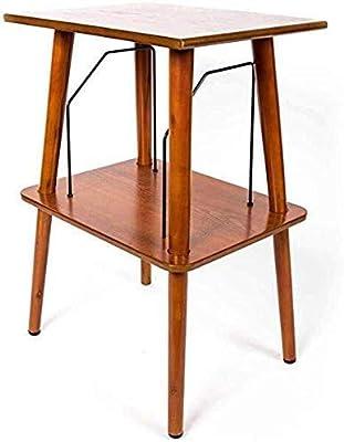 GOTOTOP mesitas auxiliares peque/ñas 36 x 60 x 60 cm redondas para muebles de oficina Mesita de noche industrial vintage para caf/é mesitas auxiliares para sala de estar