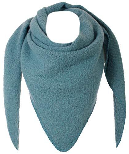 Eitex Damen XXL Schal 3 Eck Tuch flauschig Warm Stola Poncho Herbst Winter Schal (petrol)