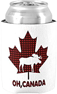 Canadian Moose Oh Canada Can Cooler Insulated Neoprene Can Koozie Beer Holders Drink Insulator Wedding Baby Shower Bridal Shower Party Decor