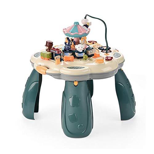 KOSIEJINN Mesa De Juego Centro De Juegos Mesa De Actividades para Bebés Multifuncional con Varios Modos con Piano De Juego Mesa De Aprendizaje Musical De Juguete para Iluminar Al Bebé