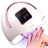 Lámpara de uñas LED UV, secador de uñas profesional LED con sensor automático 4 temporizadores (10/30/60 / 99S) para un arte de uñas fácil de estilo de salón rápido en casa