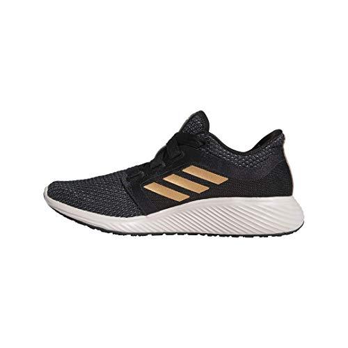 adidas Women's Edge Lux 3 Running Shoe, Black/Copper Metallic/Echo Pink, 6.5 M US