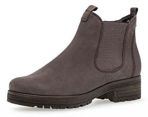 Gabor Damen Chelsea Boots 92.091,Frauen Stiefel,Halbstiefel,Stiefelette,Bootie,Schlupfstiefel,hoch,Blockabsatz 2.5cm,Einlegesohle,G Weite (Normal),Vulcano (Micro),UK 6.5