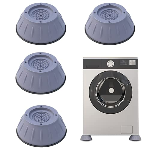 Yaclonq 4pcs Shock And Noise Cancelling Waschmaschinenhalterung, Waschmaschine Und Trockner Antivibrationspads, Anti-Walk Trockner Anti-Vibrationspads, Waschmaschinenstabilisator (Grau)