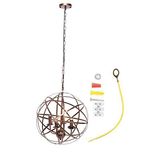 Lámpara colgante de hierro ambiental de moda para hotel(Bronce oscuro)